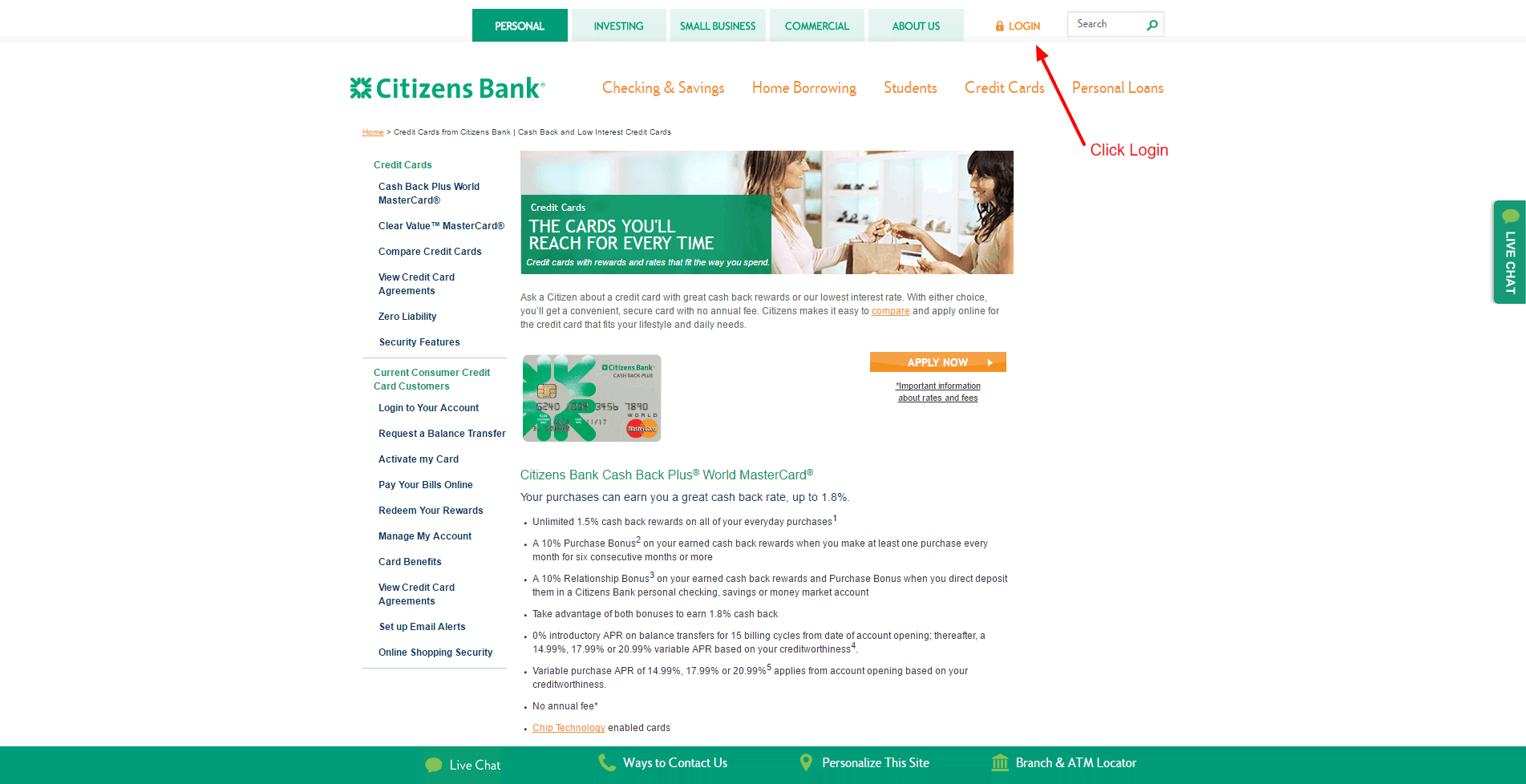 Citizens Bank Credit Card Login