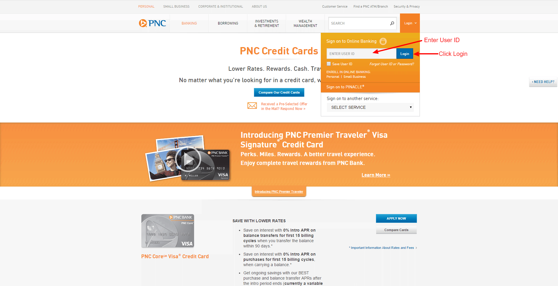 Pnc credit card online login cc bank 01pnclogin02 colourmoves