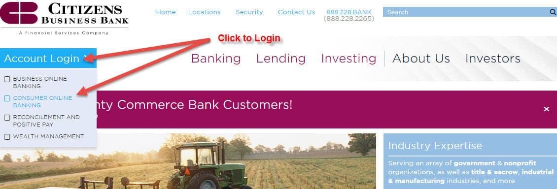 Citizens Business Bank Online Banking Login