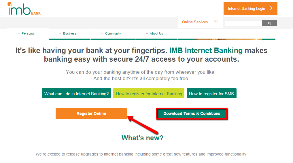 Imb Internet Banking