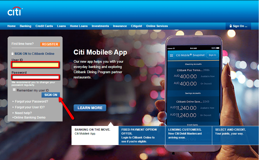 Citibank Online Sign In >> Citibank Australia Online Banking Login Cc Bank