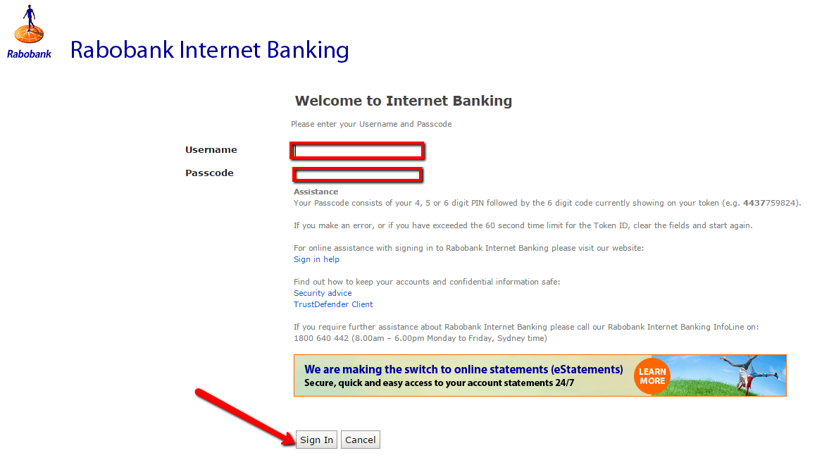 Rabobank Australia Online Banking Login - CC Bank