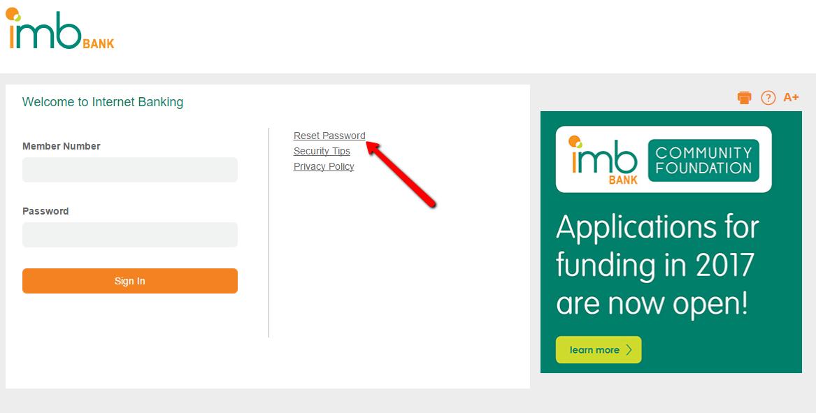 IMB Bank Online Banking Login - CC Bank