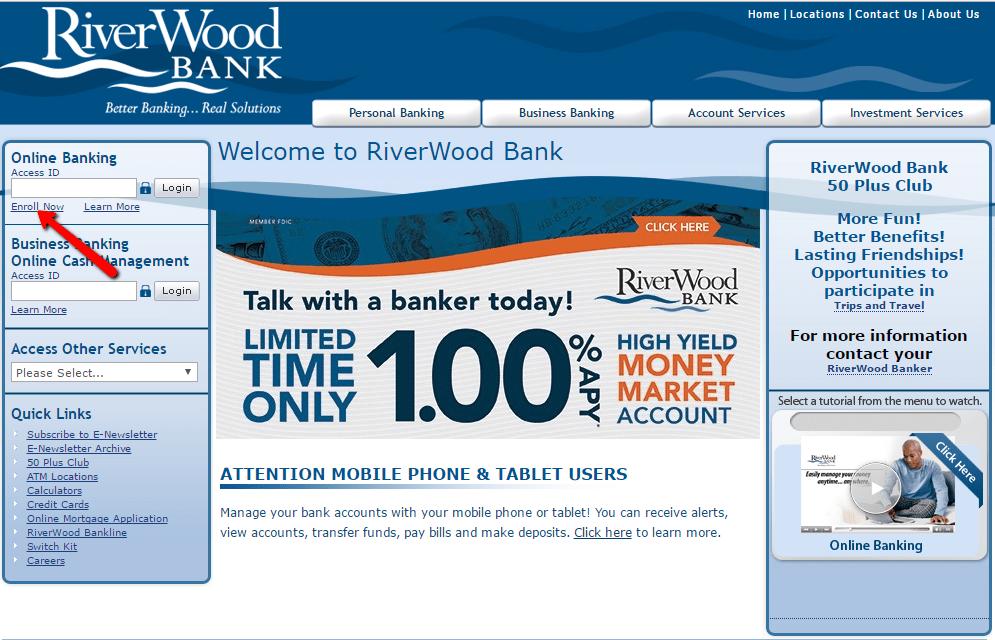 Riverwood Bank Online Banking Login Cc Bank