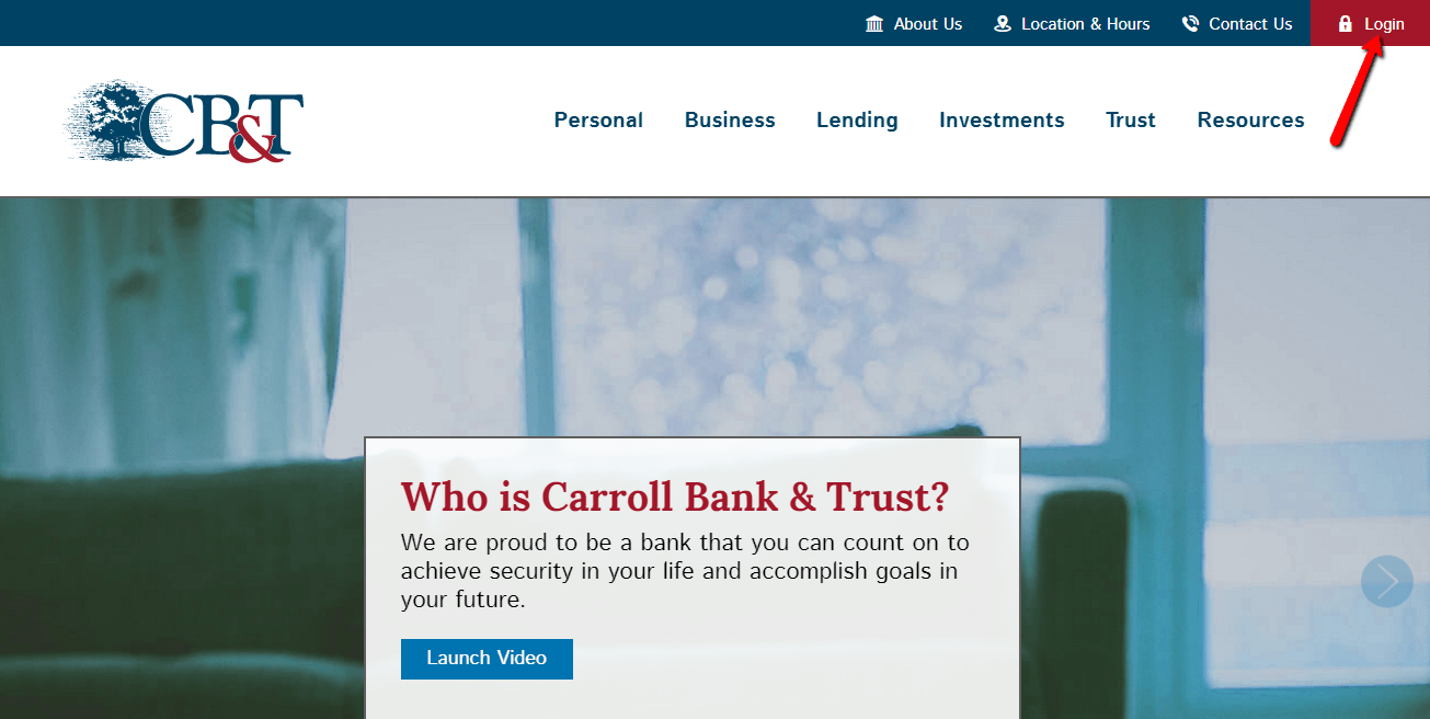 Carroll Bank and Trust Online Login
