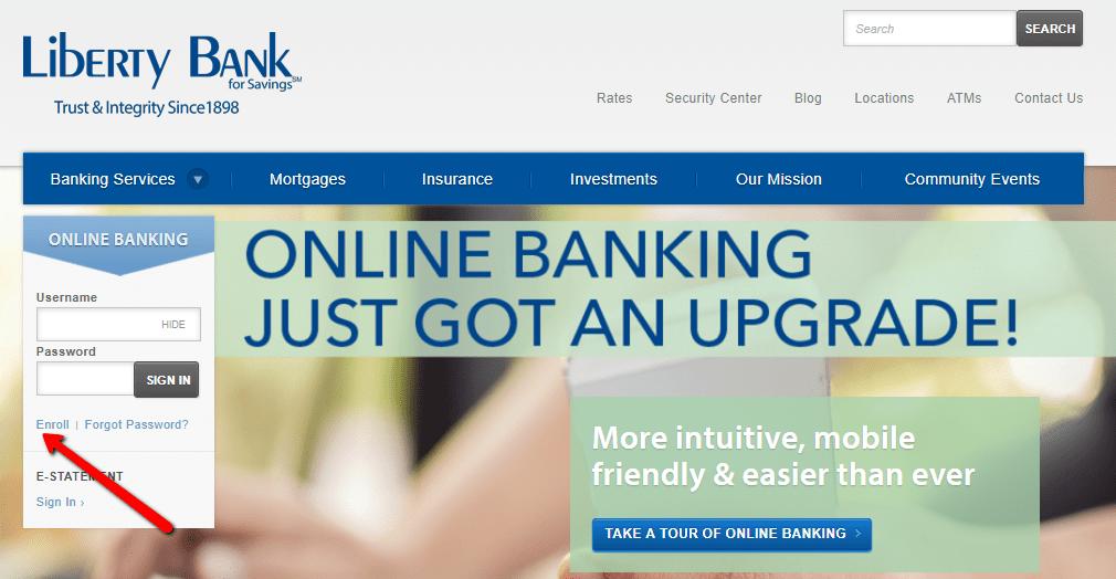 liberty bank for savings online banking login