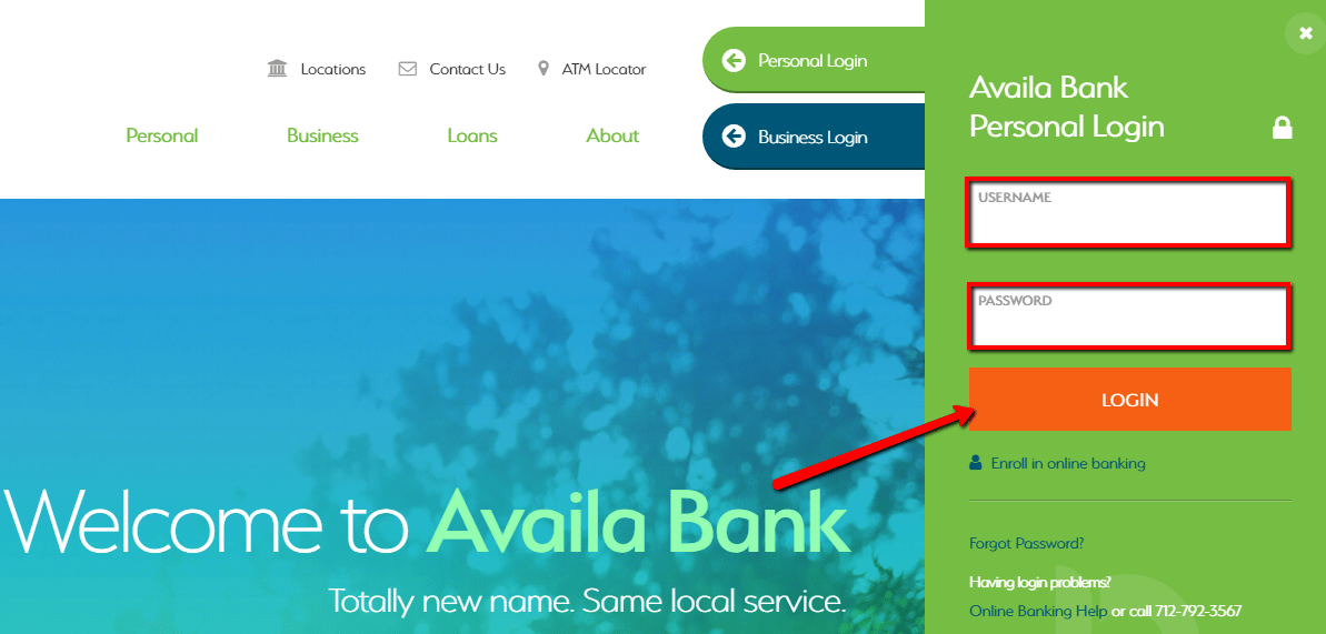 Fill in your details. Then, click on login button.