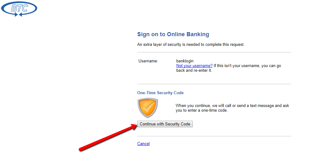 btc bank online banking