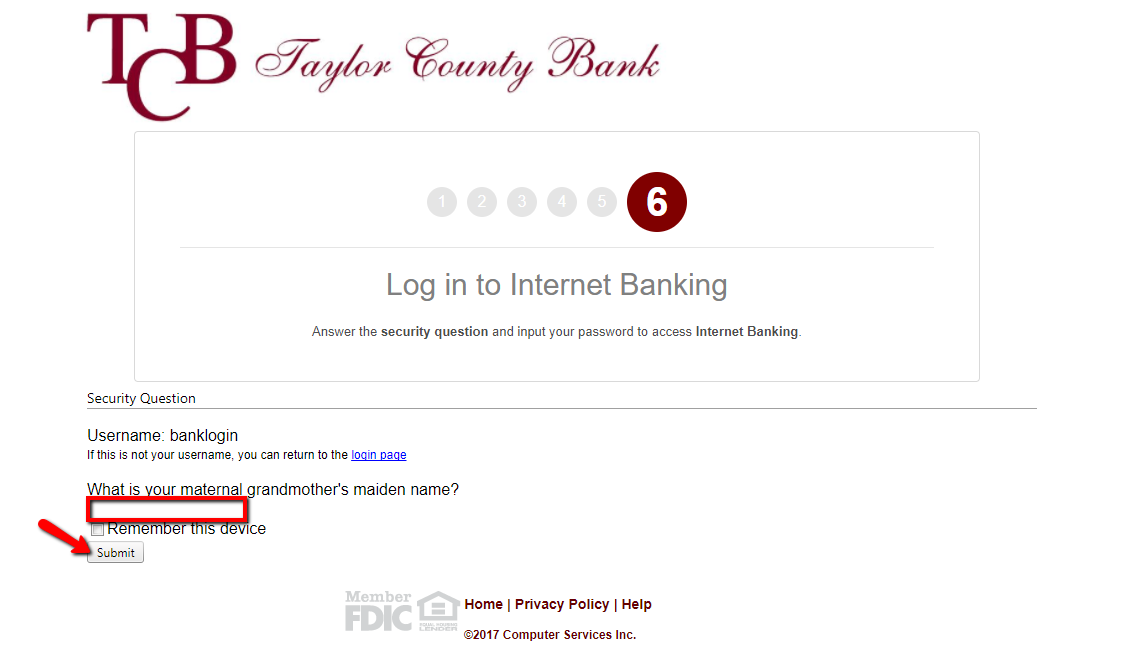 Taylor County Bank Online Banking Login