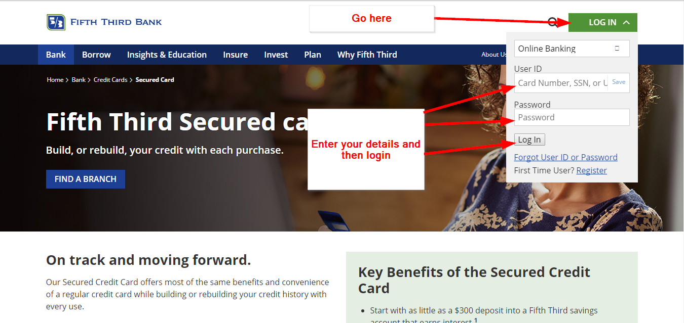 53 Bank's Secured Credit Card Login