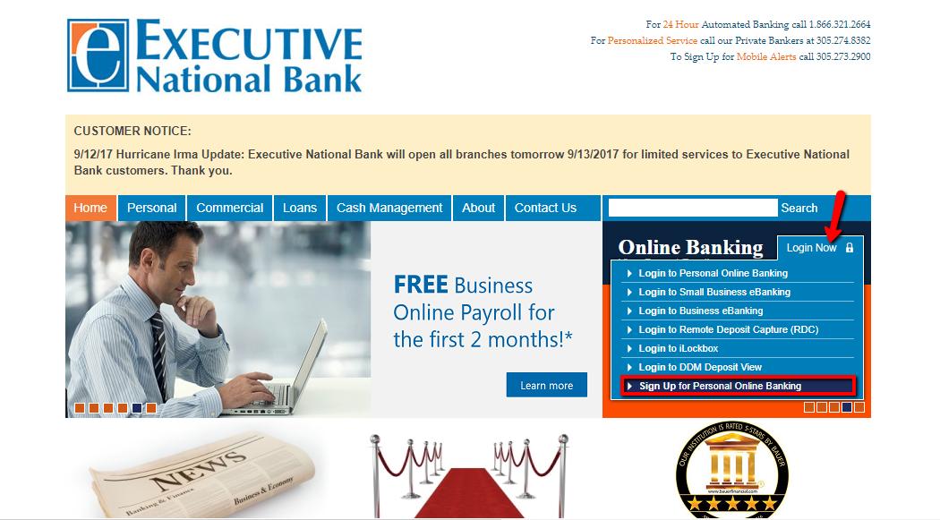 Executive National Bank Online Banking Login Cc Bank