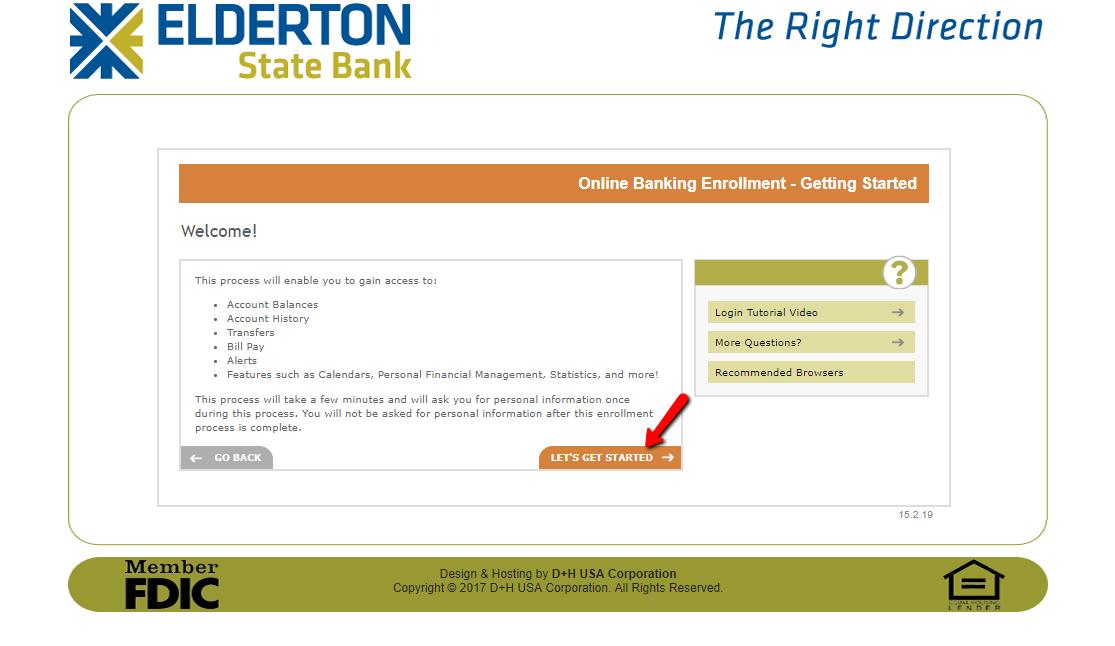 elderton state bank online banking login