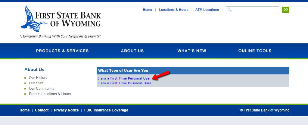 first state bank of wyoming online banking login