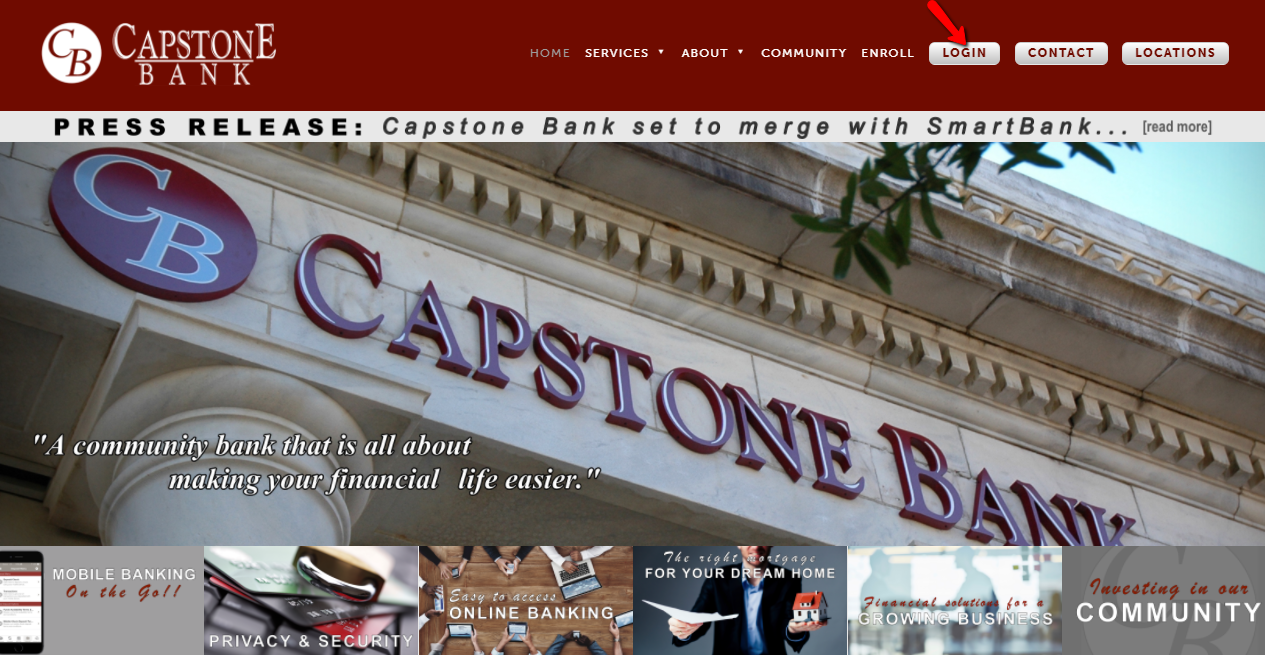 Capstone Bank Online Login