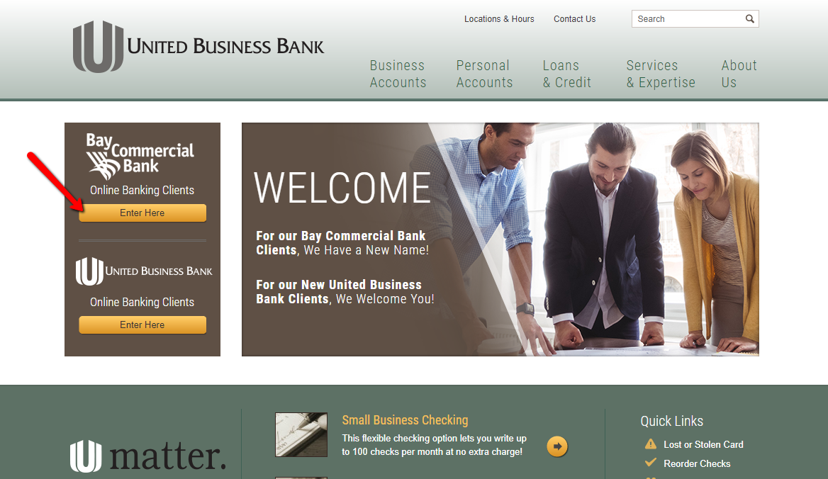 United Business Bank Online Banking Login