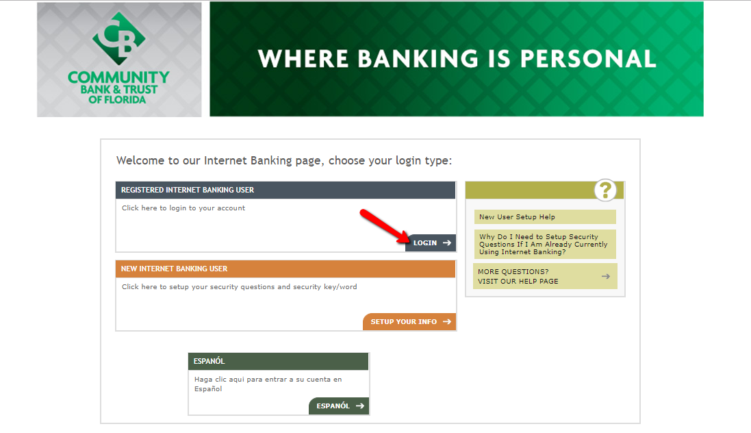 Community Bank And Trust Of Florida Online Banking Login