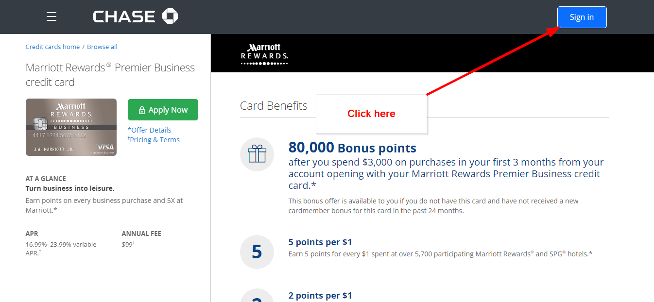 Marriott rewards premier business credit card online login cc bank step 2 go to the sign in space colourmoves