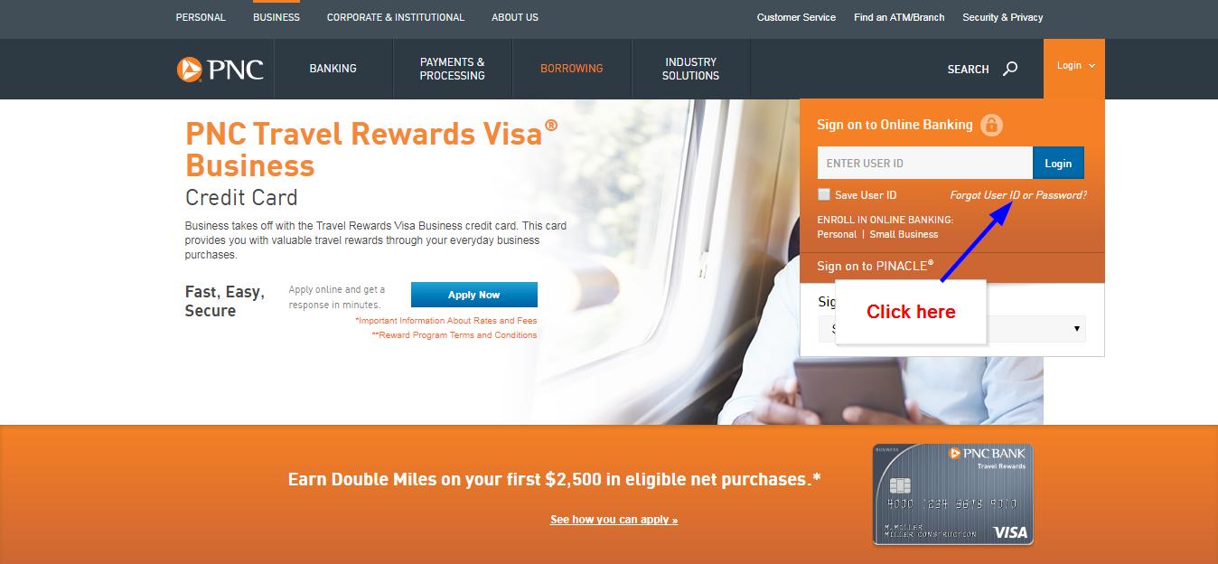 PNC BANK Travel Rewards Visa Business Online Login - 🌎 CC Bank