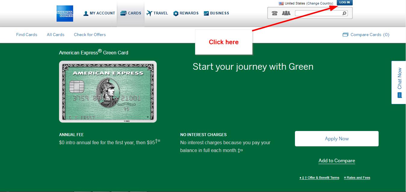 American express green card online login cc bank step 2 tap the login button colourmoves
