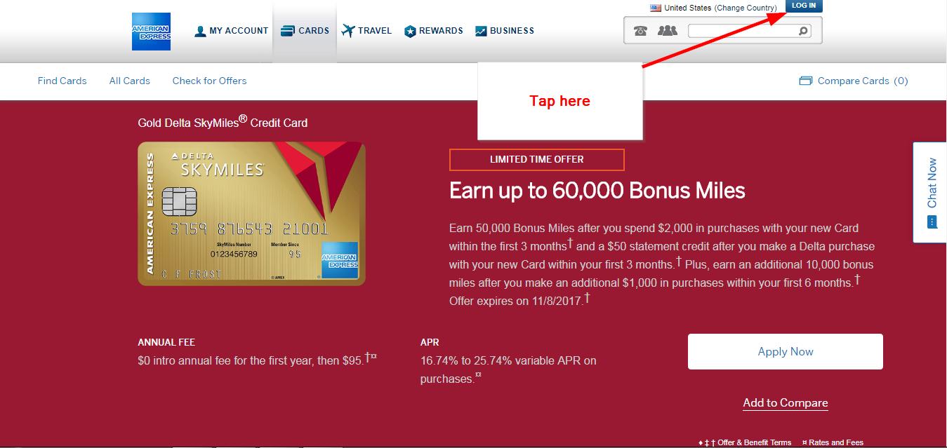 Delta American Express Login >> Gold Delta Skymiles Credit Card Online Login Cc Bank