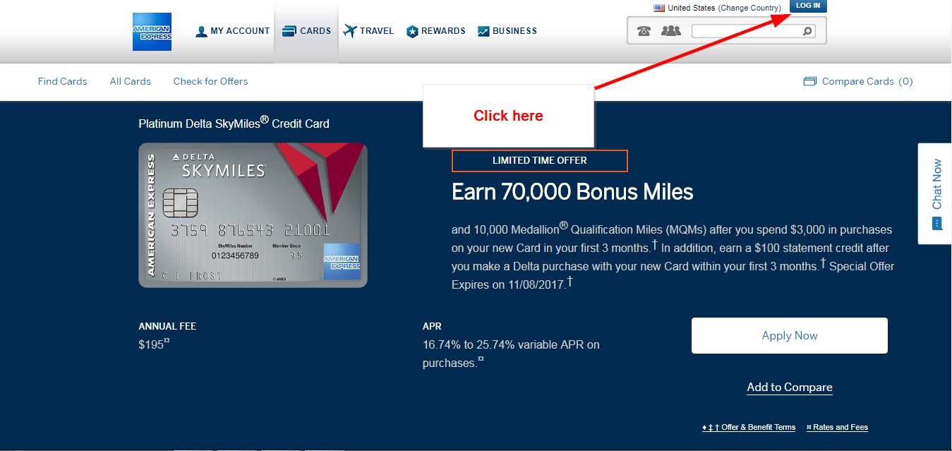 American Express Delta Card Login >> Platinum Delta Skymiles Credit Card Online Login Cc Bank