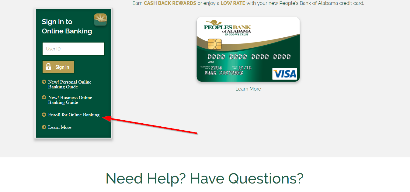 banking bank login peoples alabama step enroll required continue enter then bankinghelp