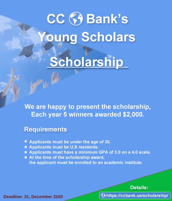 CC Bank Young Scholars Scholarship