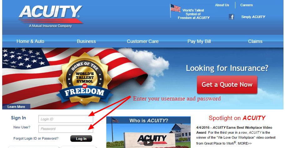 ACUITY Insurance login