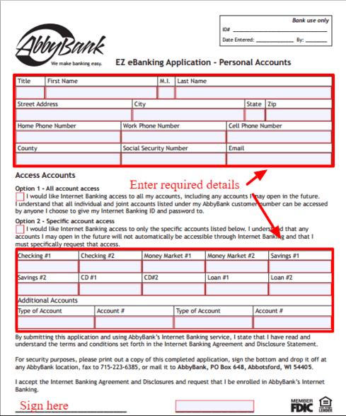 AbbyBank Online Banking Login