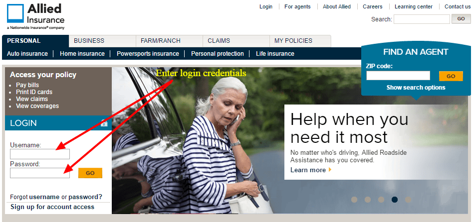 Allied Insurance Login
