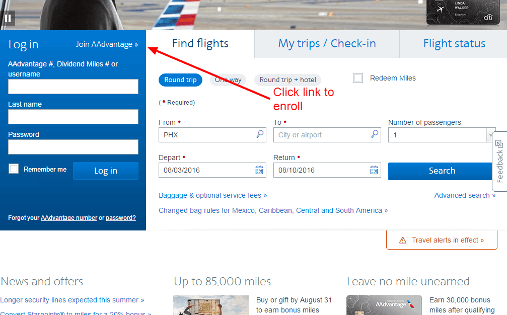 American Airlines Credit Card Online Login Cc Bank