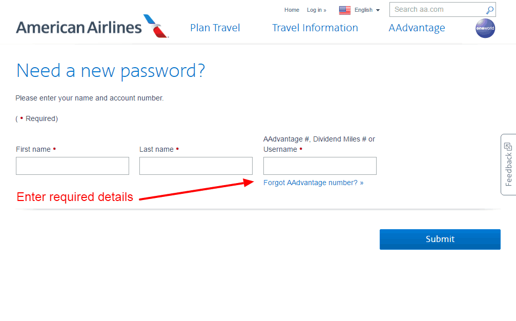 American Airlines PASSWORD 2