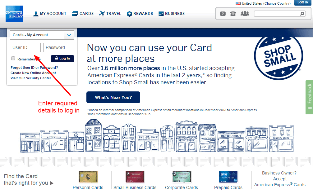 Am Ex Login >> American Express Credit Card Online Login Cc Bank