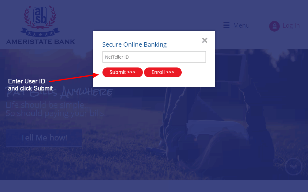 Ameristate Bank login
