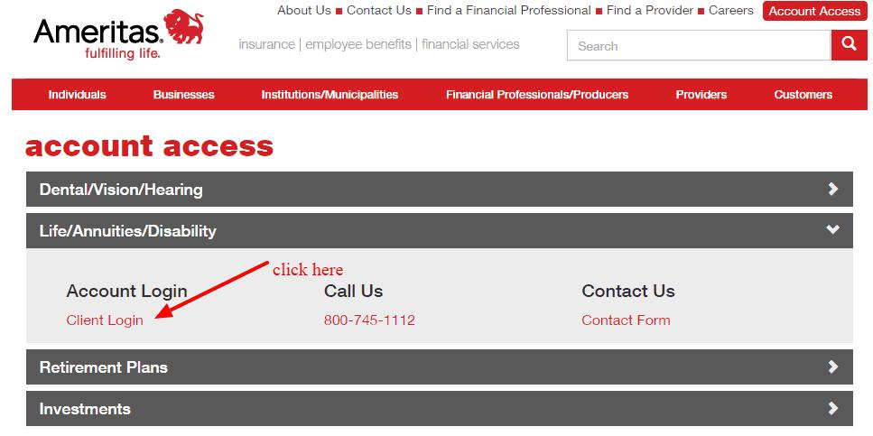 Ameritas Account access