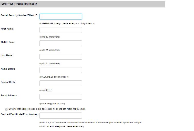 Ameritas Personal Information-1