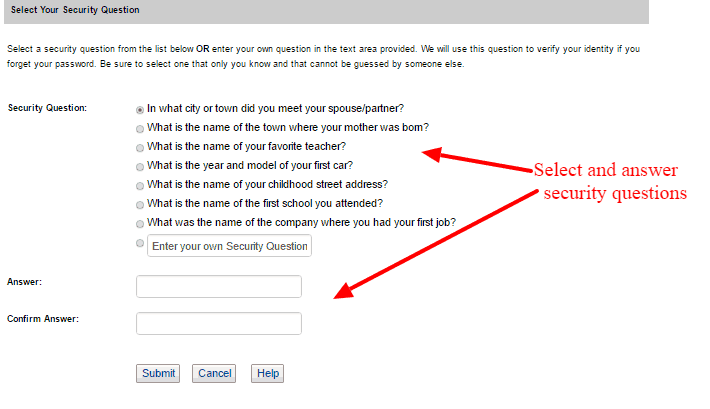 Ameritas security questions