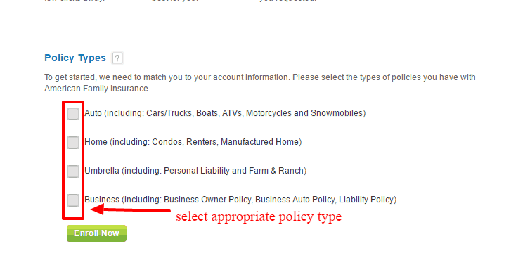 Amfam Policy Type