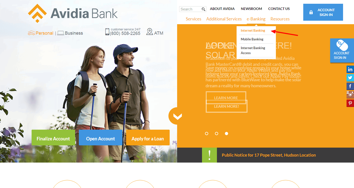 Avidia Bank enroll 2