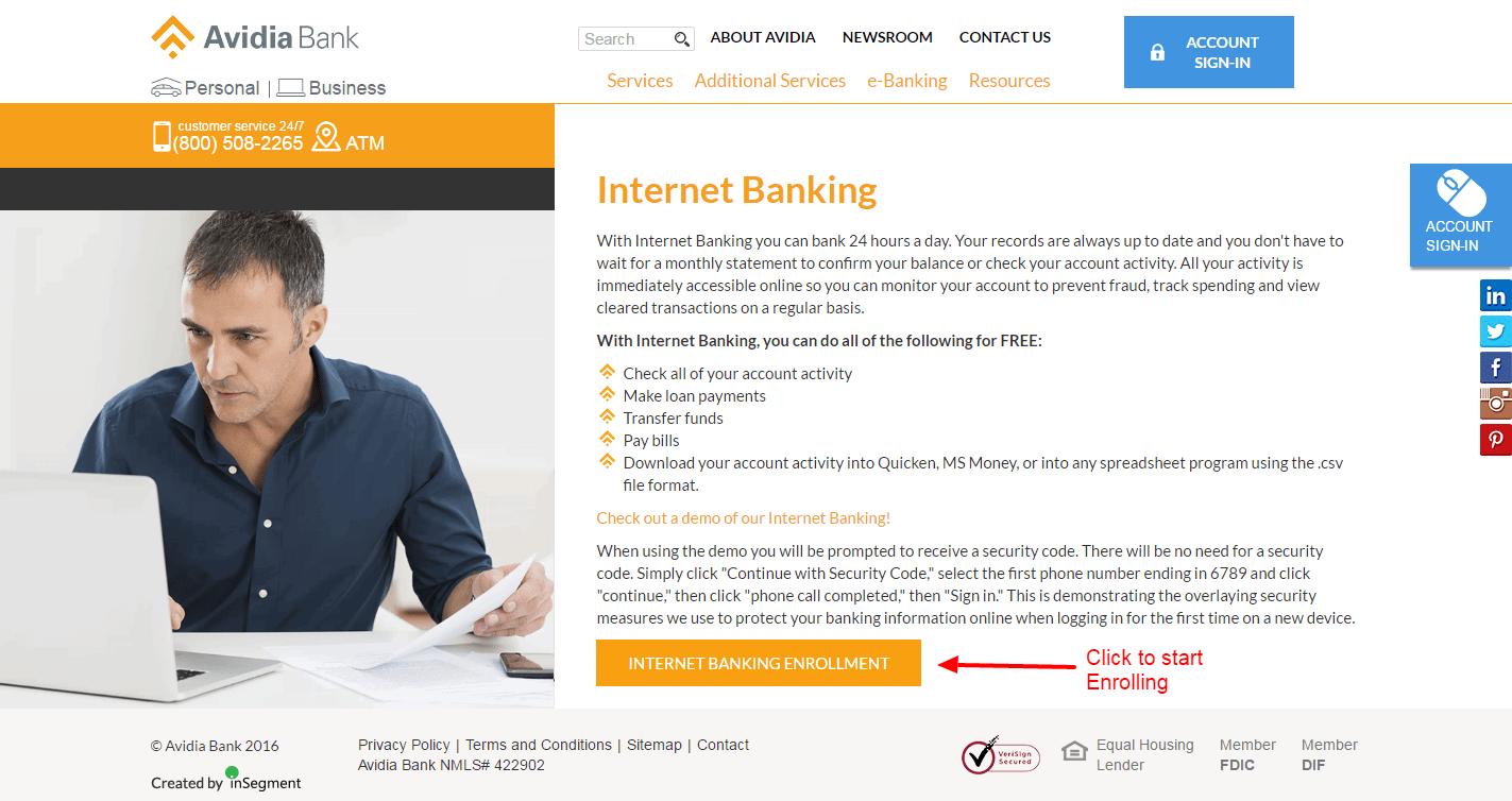 Avidia Bank enroll 3