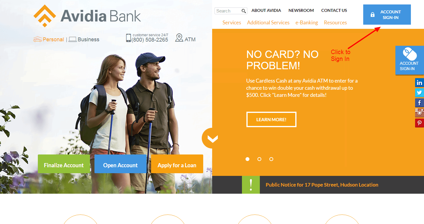 Avidia Bank login 2