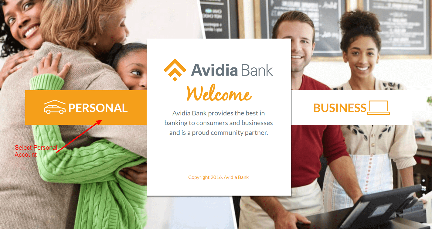 Avidia Bank login