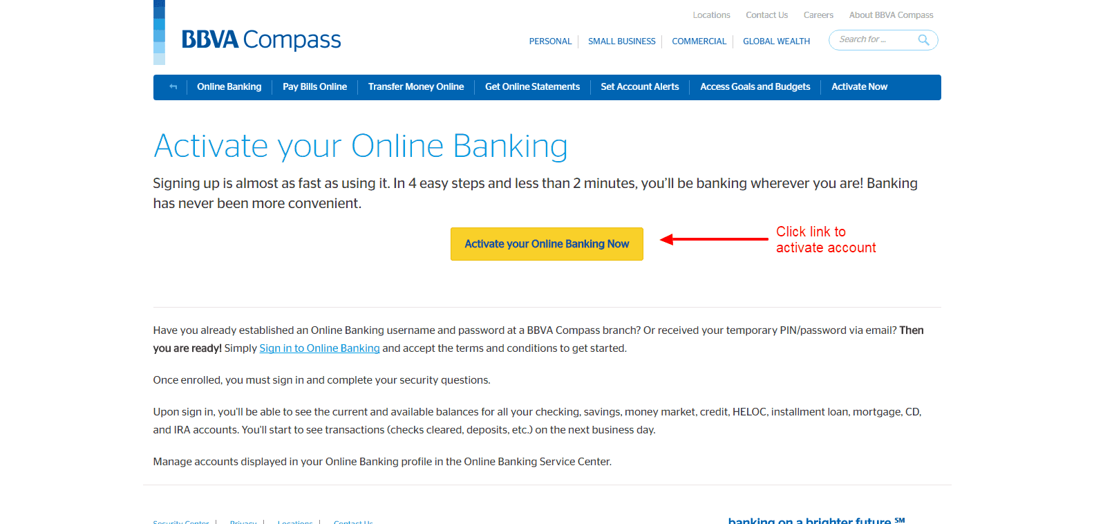 Online Banking Sign In