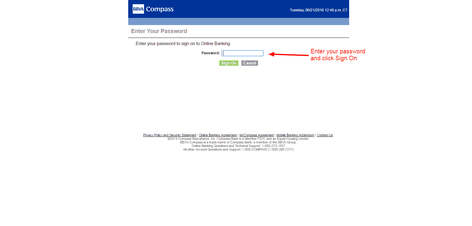 BBVA Compass login 2