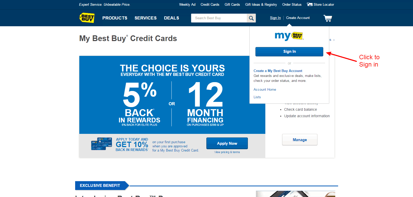 Www.bestbuy credit card login