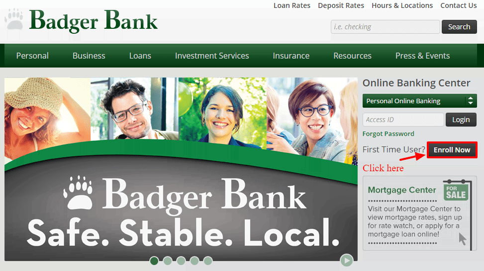 Badger Bank Enroll