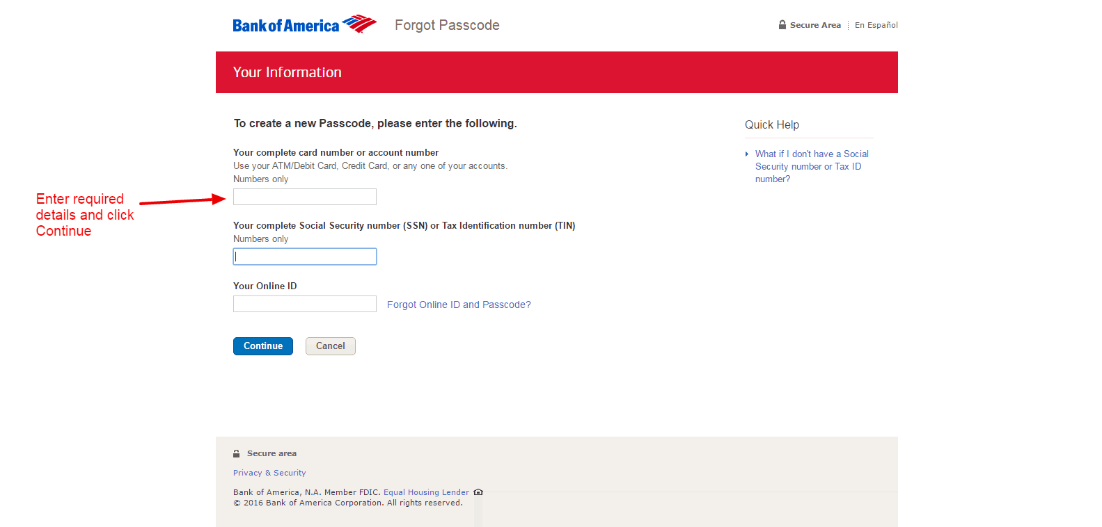Bank Of America Online Banking Login Cc Bank