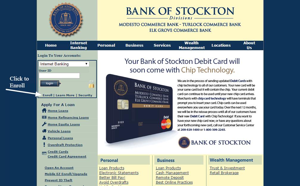 Bank of Stockton enroll