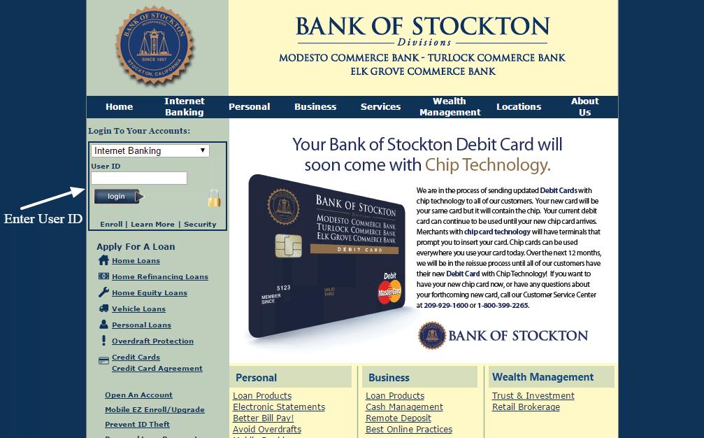 Bank of Stockton login