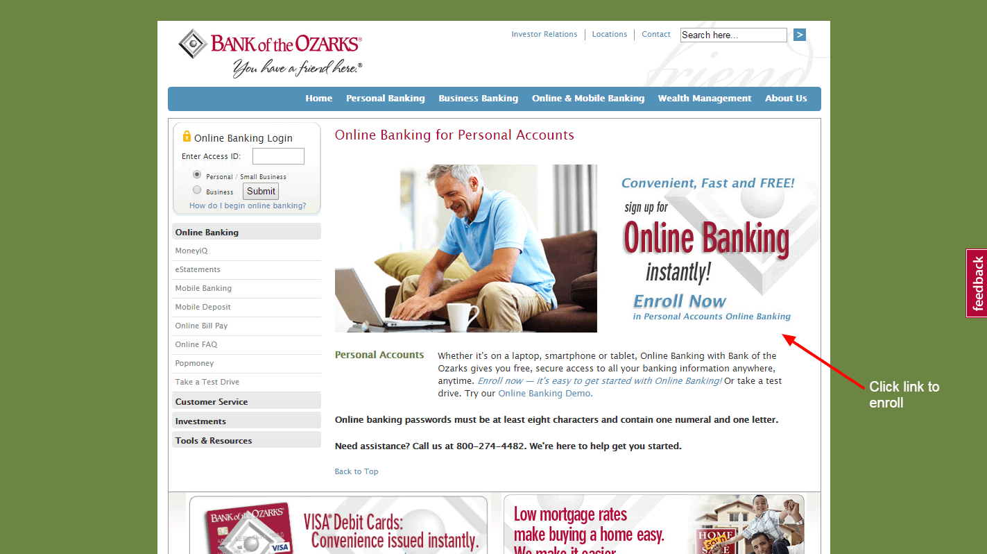Bank of the Ozarks enroll 2